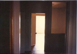 A final snapshot of the Garden St. apartment, fifteen seconds before I tossed the keys on the floor and locked the door behind me in May, 1996.