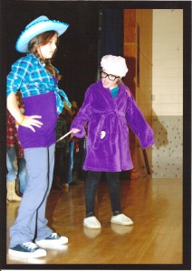Abby (right) starring in the 5th grade school play